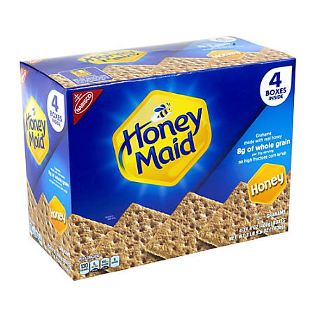 Nabisco Honey Maid Honey Graham Crackers, 14.4 Oz Box, Pack of 4