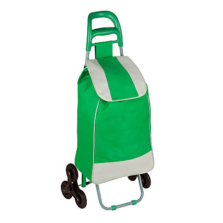 Honey-Can-Do Large Rolling Knapsack Cart With Tri-Wheels, Green