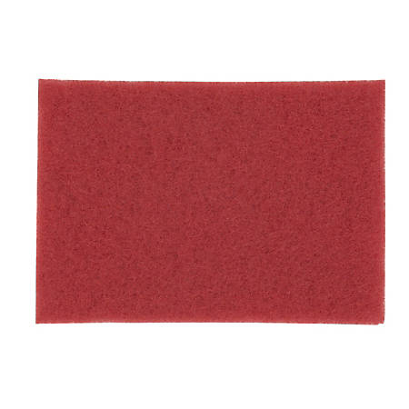 "3M™ 5100 Buffer Floor Pads, 20"" x 14"", Red, Box Of 10"
