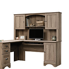 Sauder Harbor View Desk Hutch Salt