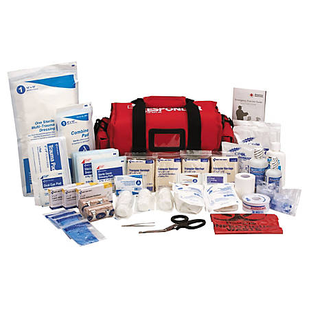 """First Aid Only 158-Piece First Responder Kit, 7-1/2""""H x 16""""W x 8""""D"""