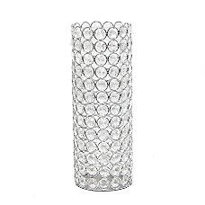 Elegant Designs Ellipse Crystal Decorative Vase