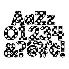Schoolgirl Style Polka Dot EZ Letters