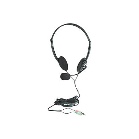 Manhattan Stereo Headset with Microphone and In-Line Volume Control - Adjustable microphone and inline volume control for hands-free communication