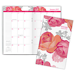 at a glance 2 year monthly pocket planner 3 58 x 6 116 in bloom