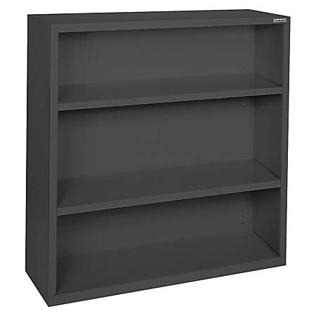 Lorell® Fortress Series Steel Bookcase, 3-Shelf, Black