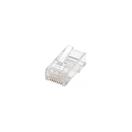 Intellinet Cat5e 3-prong Modular Plugs, Jar of 100