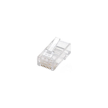 Intellinet Cat5e 2-prong Modular Plugs, Jar of 100