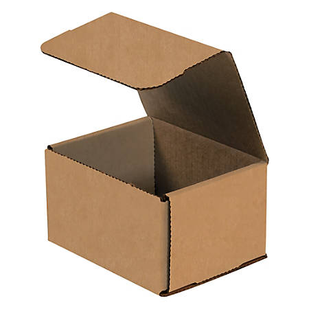 """Office Depot® Brand Corrugated Mailers, 5"""" x 5"""" x 3"""", Kraft, Pack Of 50"""