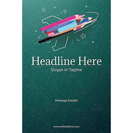 Custom Poster, Creative Rocket, Vertical