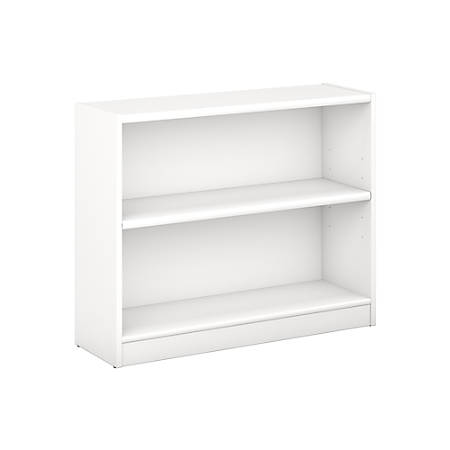 new product 2bfbe 569bc Bush Furniture Universal 2 Shelf Bookcase, Pure White, Standard Delivery  Item # 343358