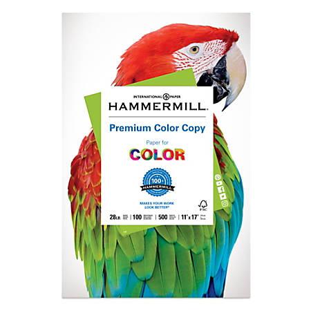 """Hammermill® Color Copy Paper, 11"""" x 17"""", 28 Lb, Ream Of 500 Sheets"""