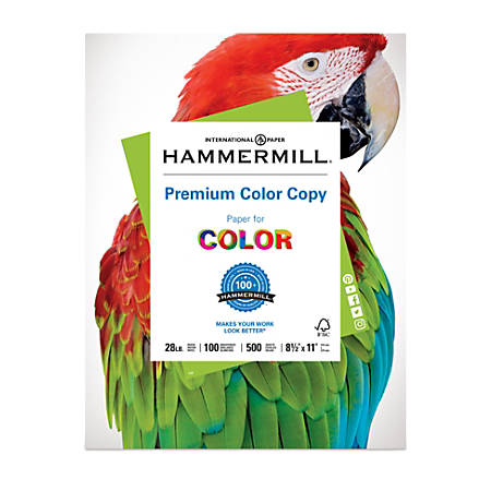 "Hammermill® Color Copy Paper, 8 1/2"" x 11"", 28 Lb, Ream Of 500 Sheets"