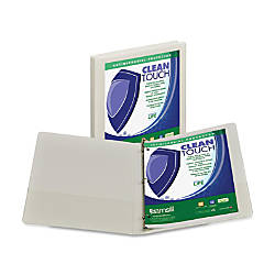 Samsill Antimicrobial Insertable Round Ring Binder