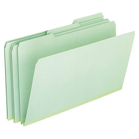 "Pendaflex® Pressboard Expanding File Folders, 1"" Expansion, Legal Size, Light Green, Box Of 25"