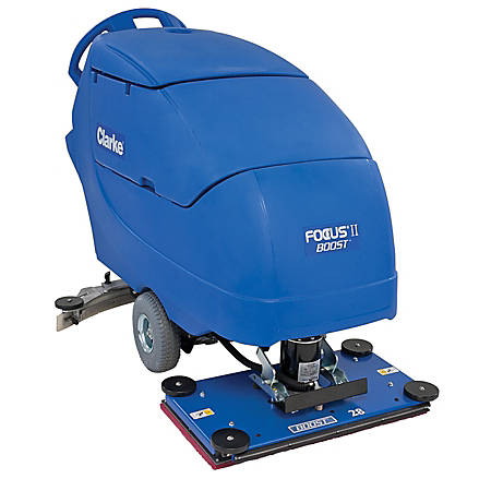 "Clarke® Focus II BOOST 28"" Walk Behind Auto Scrubber With Onboard Chemical Mixing System"