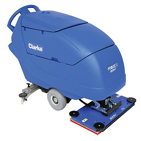 """Clarke® Focus II BOOST 32"""" Walk Behind Auto Scrubber With Onboard Chemical Mixing System"""