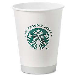 Starbucks Hot Cups 12 Oz White