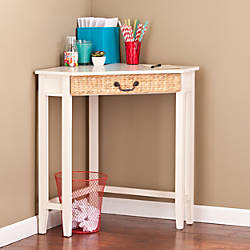 Southern Enterprises Panama Corner Desk French