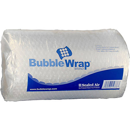 "Sealed Air Bubble Wrap Multi-purpose Material - 12"" Width x 30 ft Length - 1 Wrap(s) - Lightweight, Perforated - Clear"