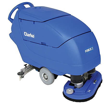 "Clarke® Focus II 34"" Disc Walk Behind Auto Scrubber With Onboard Chemical Mixing System"