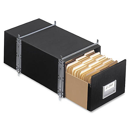 "Bankers Box® Staxonsteel 60% Recycled Storage Drawers, 10 1/2""H x 15""W x 24""D, Black, Case Of 6"