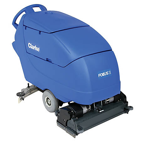 "Clarke® Focus II 28"" Cylindrical Walk Behind Auto Scrubber With Onboard Chemical Mixing System"