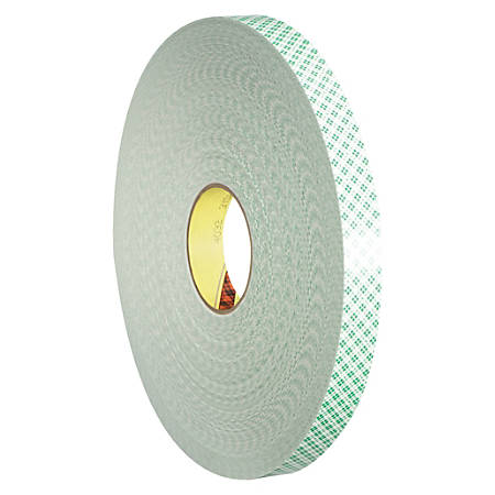 """3M™ 4032 Double-Sided Foam Tape, 3"""" Core, 1"""" x 216', Natural"""