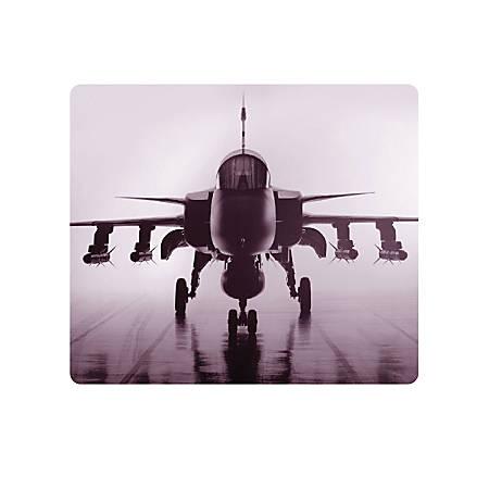 """OTM Essentials Mouse Pad, Airplane, 10"""" x 9.13"""", Black, PV1BM-RGD-01"""