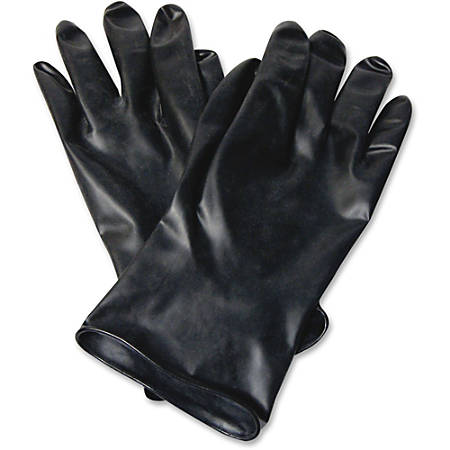"NORTH 11"" Unsupported Butyl Gloves - Chemical Protection - 9 Size Number - Butyl - Black - Water Resistant, Durable, Chemical Resistant, Ketone Resistant, Rolled Beaded Cuff, Comfortable, Abrasion Resistant, Cut Resistant, Tear Resistant"