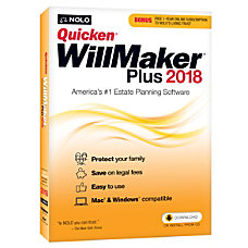 Quicken WillMaker Plus 2018 For PCMac