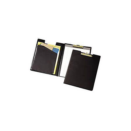 "Cardinal Business Basics Clip Folder, 12 3/8"" x 9 1/2"", Black"