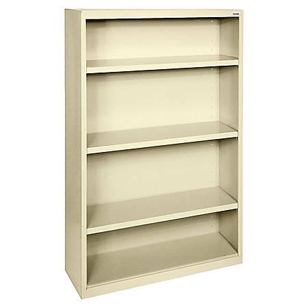 Lorell® Fortress Series Steel Bookcase, 4-Shelf, Putty