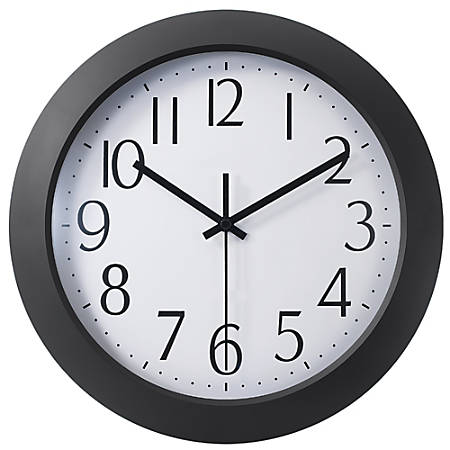 "Office Depot® Brand 12"" Flat-Panel Plastic Round Wall Clock"