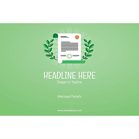 Adhesive Sign, Certificate, Horizontal