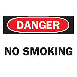 10X14 NO SMOKING SIGN STICKER