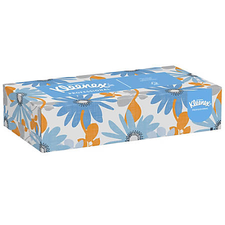 Kimberly-Clark® Zip-Half Pack 2-Ply Facial Tissue, 125 Sheets Per Box, Case Of 12 Boxes