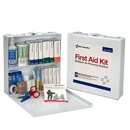 "First Aid Only First Aid Station For 50 People, 10 1/2"" x 10 1/2"" x 2 1/2"""