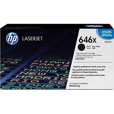 HP 646X, Black Toner Cartridge (CE264X)