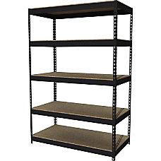 Lorell 5 Shelf Riveted Steel Shelving
