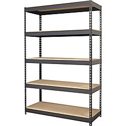 Lorell Riveted Steel Shelving 72 Height