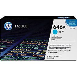 HP 646A Cyan Toner Cartridge CF031A