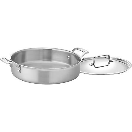 Cuisinart 5-1/2 Qt. Casserole - 5.5 quart Casserole, Lid - Stainless Steel, Cast Stainless Steel Handle, Aluminum - Dishwasher Safe - Oven Safe