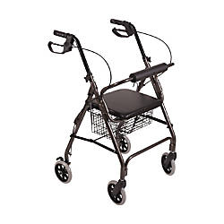 DMI Freedom Adjustable Aluminum Rollator Walker