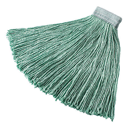 "Rubbermaid® Web Foot Wet Mop, 5"" Band, Green"
