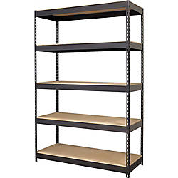 Lorell 5 Shelf Riveted Steel Shelving