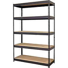 Lorell Riveted Steel Shelving 5 Compartments