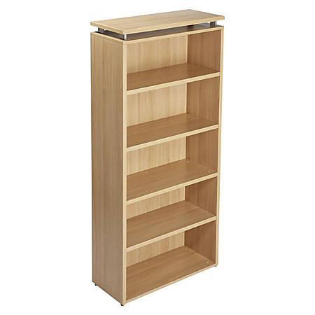 Lorell® Concordia Series Bookcase, 5-Shelf, Latte