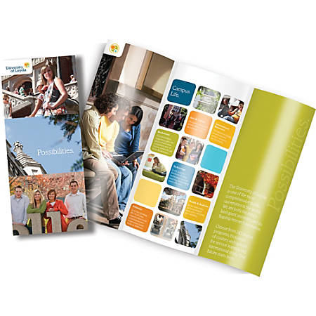 "Full-Color Tri-Fold Brochures, 8-1/2"" x 11"", Pack Of 25"