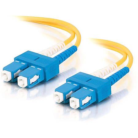C2G-9m SC-SC 9/125 OS1 Duplex Singlemode Fiber Optic Cable (Plenum-Rated) - Yellow